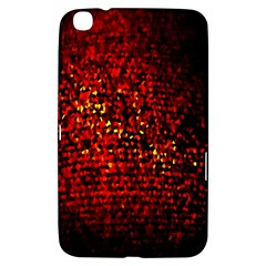 Red Particles Background Samsung Galaxy Tab 3 (8 ) T3100 Hardshell Case