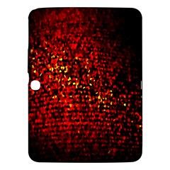 Red Particles Background Samsung Galaxy Tab 3 (10 1 ) P5200 Hardshell Case