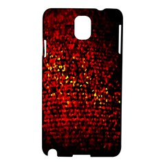 Red Particles Background Samsung Galaxy Note 3 N9005 Hardshell Case
