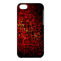 Red Particles Background Apple iPhone 5C Hardshell Case
