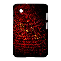 Red Particles Background Samsung Galaxy Tab 2 (7 ) P3100 Hardshell Case