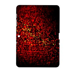 Red Particles Background Samsung Galaxy Tab 2 (10 1 ) P5100 Hardshell Case