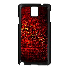 Red Particles Background Samsung Galaxy Note 3 N9005 Case (Black)