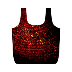 Red Particles Background Full Print Recycle Bags (m)
