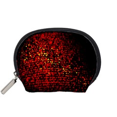 Red Particles Background Accessory Pouches (small)