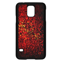 Red Particles Background Samsung Galaxy S5 Case (black)