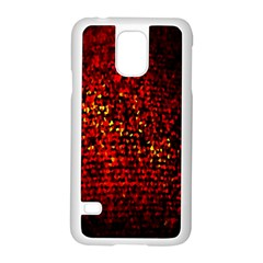 Red Particles Background Samsung Galaxy S5 Case (White)