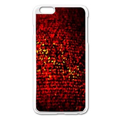 Red Particles Background Apple Iphone 6 Plus/6s Plus Enamel White Case