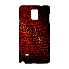 Red Particles Background Samsung Galaxy Note 4 Hardshell Case