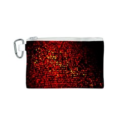 Red Particles Background Canvas Cosmetic Bag (S)