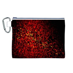 Red Particles Background Canvas Cosmetic Bag (L)