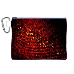Red Particles Background Canvas Cosmetic Bag (xl)