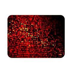 Red Particles Background Double Sided Flano Blanket (mini)