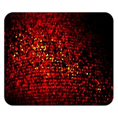 Red Particles Background Double Sided Flano Blanket (small)