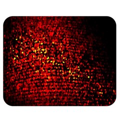 Red Particles Background Double Sided Flano Blanket (Medium)