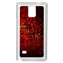 Red Particles Background Samsung Galaxy Note 4 Case (White)
