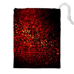 Red Particles Background Drawstring Pouches (XXL)