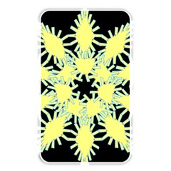 Yellow Snowflake Icon Graphic On Black Background Memory Card Reader