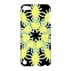 Yellow Snowflake Icon Graphic On Black Background Apple iPod Touch 5 Hardshell Case