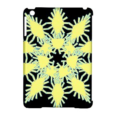 Yellow Snowflake Icon Graphic On Black Background Apple Ipad Mini Hardshell Case (compatible With Smart Cover)