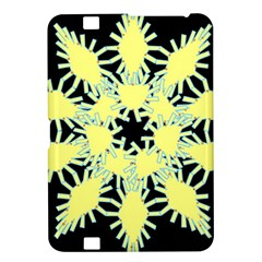 Yellow Snowflake Icon Graphic On Black Background Kindle Fire HD 8.9