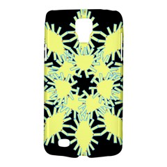 Yellow Snowflake Icon Graphic On Black Background Galaxy S4 Active