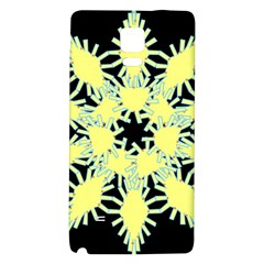 Yellow Snowflake Icon Graphic On Black Background Galaxy Note 4 Back Case