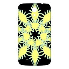 Yellow Snowflake Icon Graphic On Black Background Samsung Galaxy Mega I9200 Hardshell Back Case