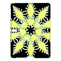 Yellow Snowflake Icon Graphic On Black Background Samsung Galaxy Tab S (10.5 ) Hardshell Case