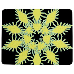 Yellow Snowflake Icon Graphic On Black Background Jigsaw Puzzle Photo Stand (rectangular)
