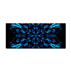 Blue Snowflake On Black Background Cosmetic Storage Cases