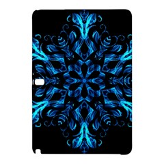 Blue Snowflake On Black Background Samsung Galaxy Tab Pro 10 1 Hardshell Case