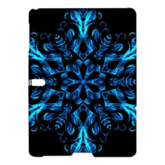 Blue Snowflake On Black Background Samsung Galaxy Tab S (10.5 ) Hardshell Case