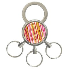 Color Ribbons Background Wallpaper 3 Ring Key Chains