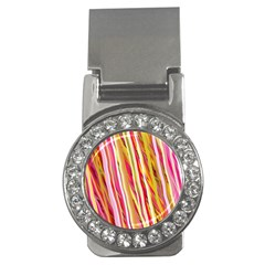 Color Ribbons Background Wallpaper Money Clips (cz)