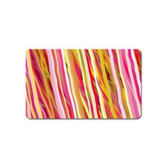 Color Ribbons Background Wallpaper Magnet (Name Card)