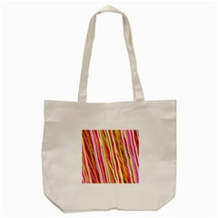 Color Ribbons Background Wallpaper Tote Bag (Cream)