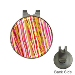 Color Ribbons Background Wallpaper Hat Clips With Golf Markers