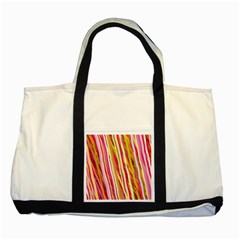 Color Ribbons Background Wallpaper Two Tone Tote Bag