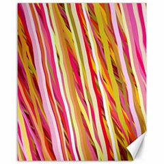 Color Ribbons Background Wallpaper Canvas 16  x 20