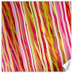 Color Ribbons Background Wallpaper Canvas 20  x 20