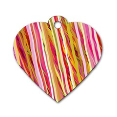 Color Ribbons Background Wallpaper Dog Tag Heart (Two Sides)