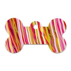 Color Ribbons Background Wallpaper Dog Tag Bone (one Side)