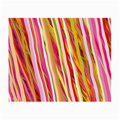 Color Ribbons Background Wallpaper Small Glasses Cloth (2 Side)