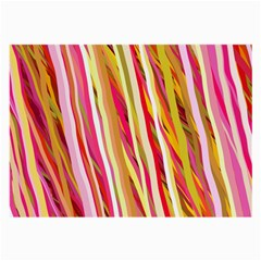Color Ribbons Background Wallpaper Large Glasses Cloth (2-Side)