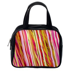 Color Ribbons Background Wallpaper Classic Handbags (One Side)