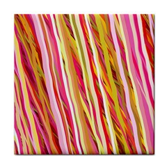 Color Ribbons Background Wallpaper Face Towel