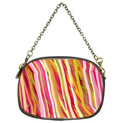Color Ribbons Background Wallpaper Chain Purses (one Side)