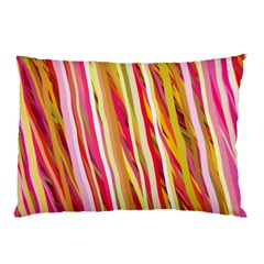 Color Ribbons Background Wallpaper Pillow Case