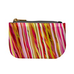 Color Ribbons Background Wallpaper Mini Coin Purses